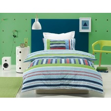 Pipper Embroidered Padded Bed Quilt Cover Set
