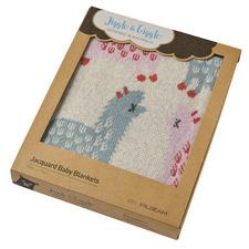 Llama Cotton Jacquard Baby Blanket