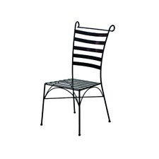 Black Wrought Iron Venice Side Chair (Set of 2)
