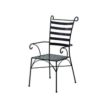 Black Wrought Iron Venice Armchair (Set of 2)