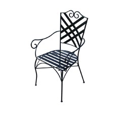 Wrought Iron Rochelle Carver Chair (Set of 2)