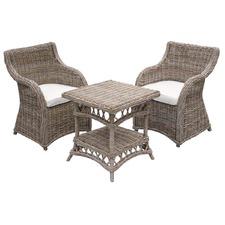 Roma Kubu Wicker 3 Piece Coffee Table Set