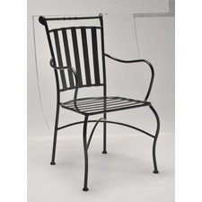 Ollie Wrought Iron Carver Chair (Set of 2)
