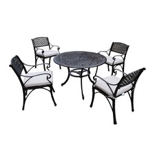 Chantal 5 Piece Cast Aluminium Dining Set with Cushions