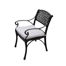 Cherise Cast Aluminium Chairs with Cushions (Set of 2)