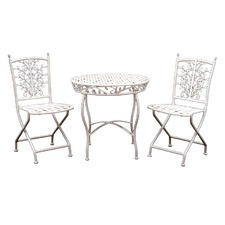 Filigree Wrought iron 3 Piece Coffee Table Set (Set of 3)