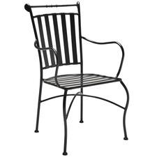 Black Adele Steel Outdoor Armchair (Set of 2)