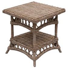 Milano Kubu Wicker Side Table