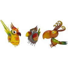 3 Piece Bird Garden Statue Set
