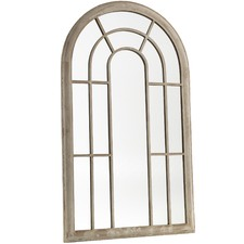 Large Garden Arched Window Mirror