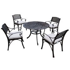 5 Piece Prato Cast Aluminium Dining Table & Chair Set