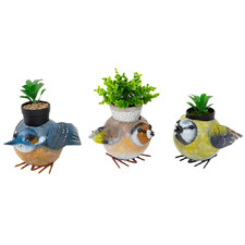 3 Piece Quirky Bird Family Planter Set
