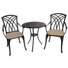 2 Seater Mauritius Metal Outdoor Bistro Set