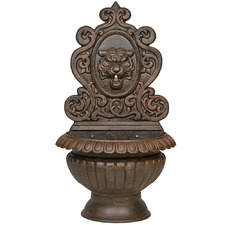 Antique Bronze Tiger Wall Fountain