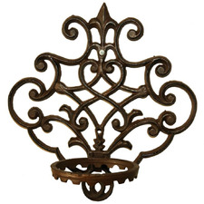 30cm Wall Mounted Cast Iron Pot Holders (Set of 4)