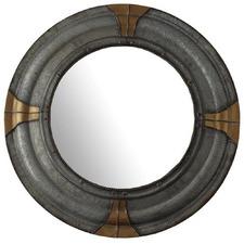 Viking Round Metal Mirror