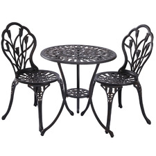 2 Seater Dominique Cast Aluminium Bistro Set