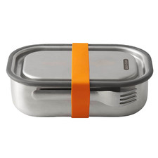 Orange Stainless Steel Lunch Box with Fork