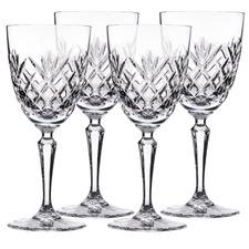 Stuart York Crystal Goblets (Set of 4)