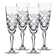 Stuart York Crystal Flutes (Set of 4)