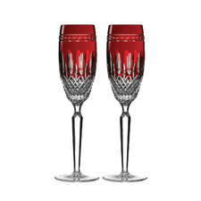 Waterford Clarendon Ruby Crystal Flutes (Set of 2)