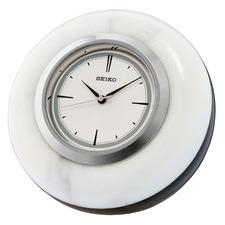 Silver Seiko Marble Wall Clock