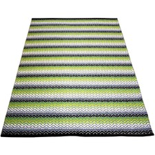 Green Tiskoni Hand-Knotted Cotton Rug