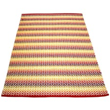 Red Tiskoni Hand-Knotted Cotton Rug