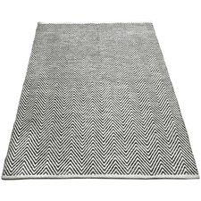 Charcoal Tye Hand-Knotted Cotton Rug