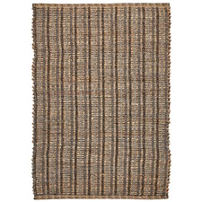 Grey Saraka Hand-Knotted Jute & Cotton Rug