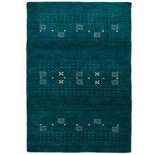 Turquoise Lori Wool & Cotton Rug