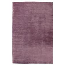 Purple Ribbed Hand-Woven Viscose Rug