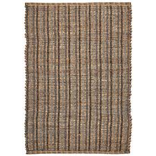 Brown Saraka Hand-Woven Jute-Blend Rug
