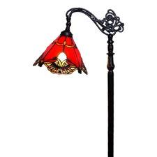 Red Jewel Carousel Bridge Arm Tiffany Floor Lamp