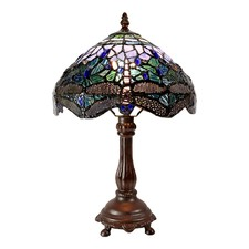 Traditional Blue Dragonfly Tiffany Bedside Lamp