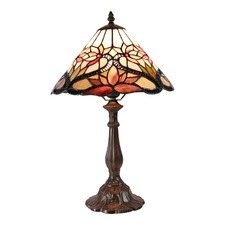 Lotus Water Lily Tiffany Bedside Lamp