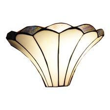 Lilly Soft Curved Lines Tiffany Style Wall Sconce