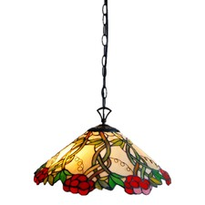 Large Grape Wisteria Tiffany Pendant Light