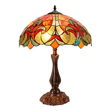Large Amor Sunshine Victorian Tiffany Table Lamp