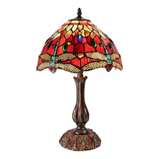 Red Dragonfly Tiffany Bedside Lamp
