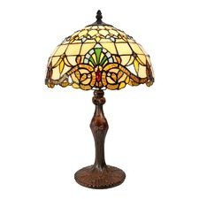 Beige Baroque Tiffany Bedside Lamp