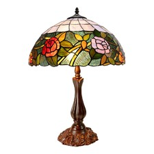 Romantic Rose Tiffany Table Lamp