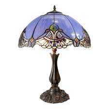 Large Baroque Accent Tiffany Table Lamp