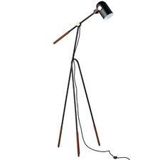 Black Metal Greta Grasshopper Replica Tripod Floor Lamp