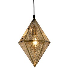 Gold Tom Dixon Replica Etch Prism Pendant Light