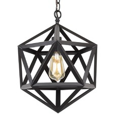 Industrial Style Cage Polyhedron Pendant Light