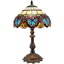 Boheme Lotus Tiffany Style Bedside Lamp