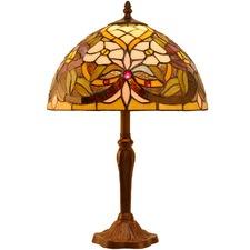Flower & Wisteria Tiffany Style Bedside Lamp