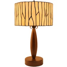 Minimalist Drum Shade Tiffany Style Table Lamp