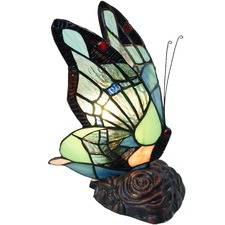 Joaquin Tiffany Style Butterfly Table Lamp